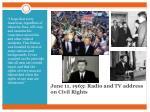 june 11 1963 radio and tv address on civil rights
