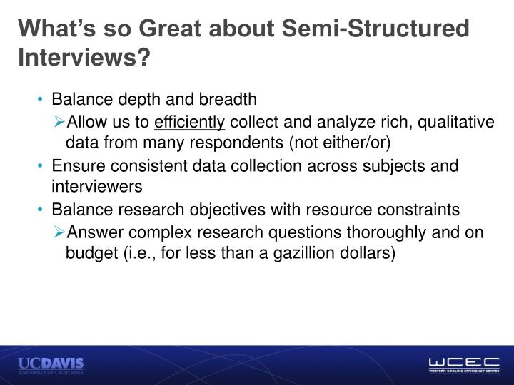 What's so Great about Semi-Structured