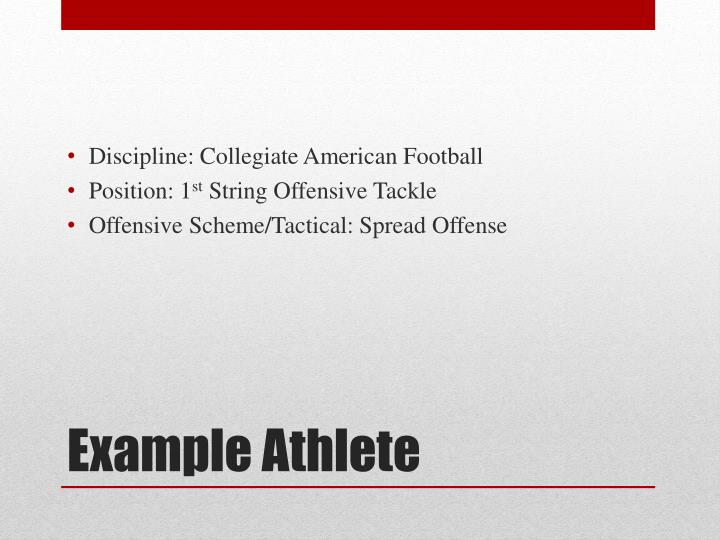 Discipline: Collegiate American Football