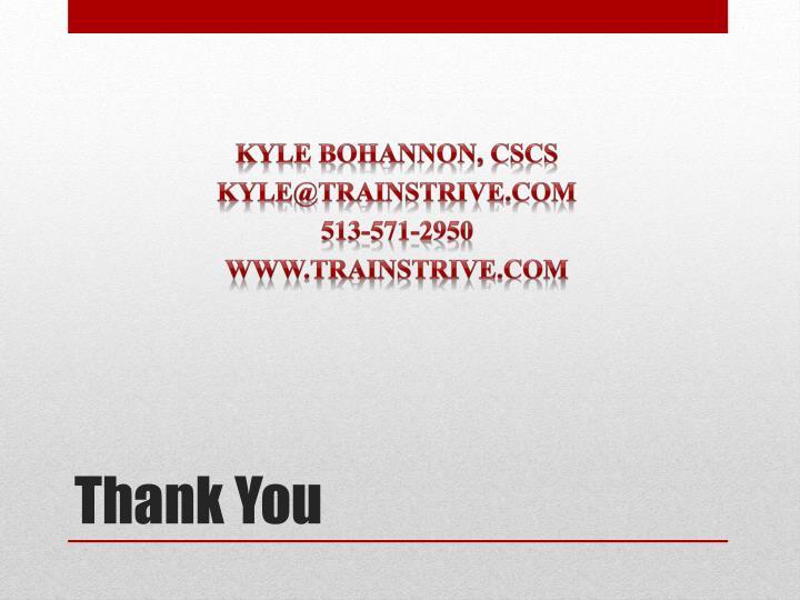 Kyle Bohannon,