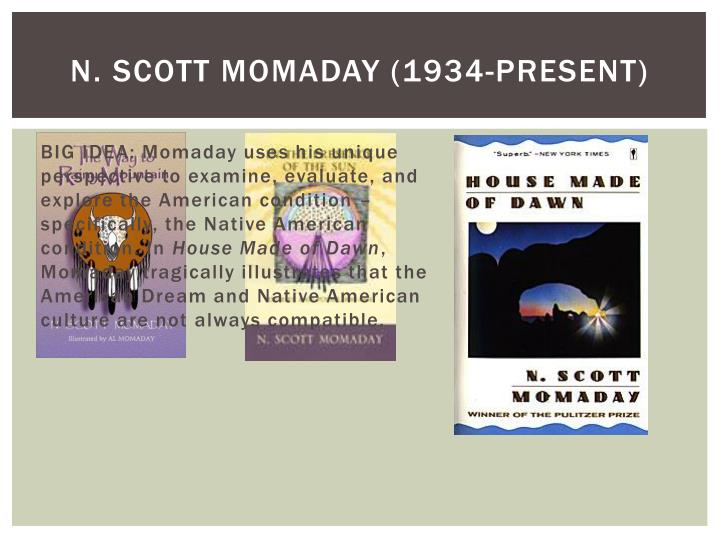 n scott momaday essays Free n scott momaday papers, essays, and research papers.