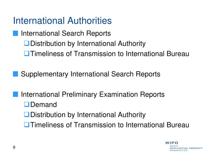 International Authorities
