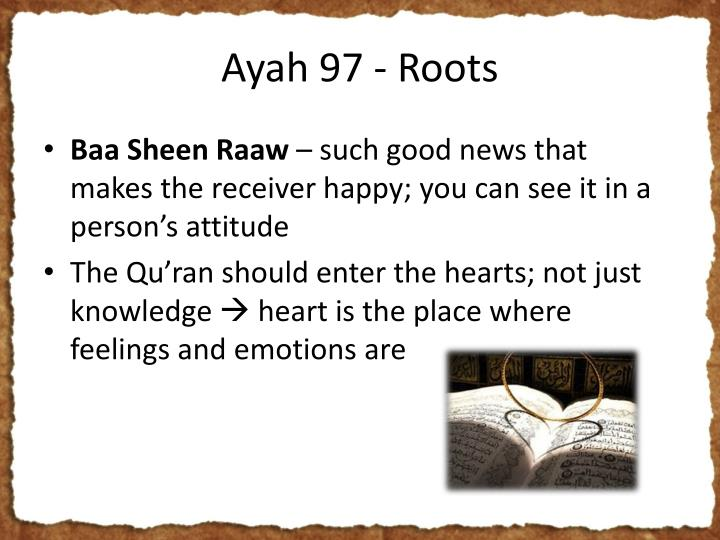 Ayah 97 - Roots
