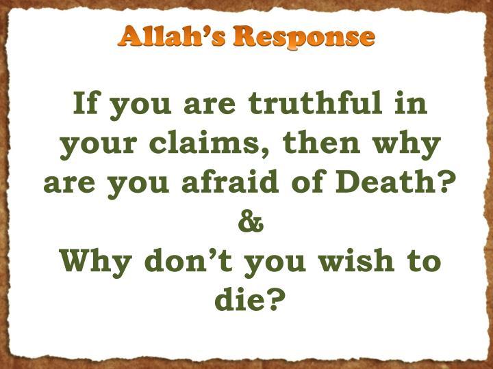 Allah's Response