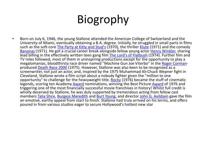 Biogrophy