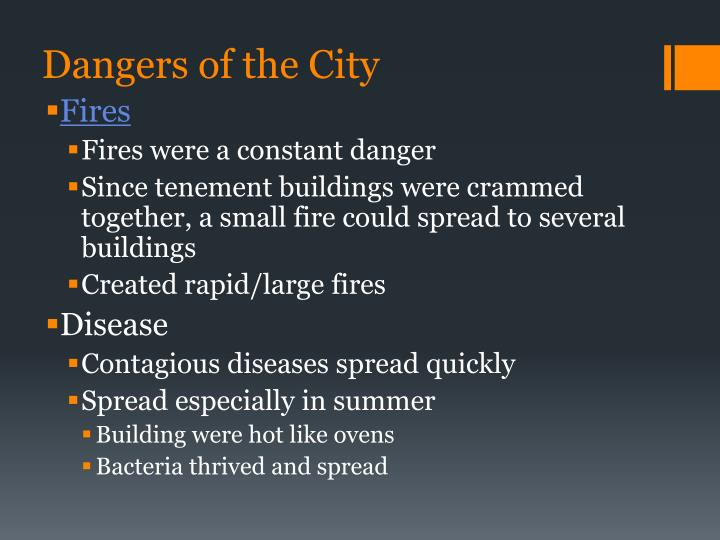 Dangers of the City