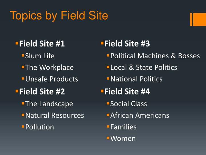 Topics by Field Site