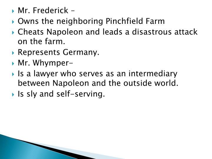 Mr. Frederick –