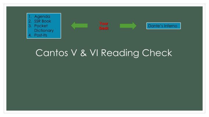 Cantos V & VI Reading