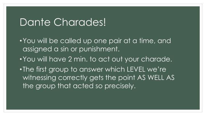 Dante Charades!