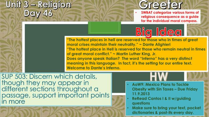 Unit 3 religion day 46