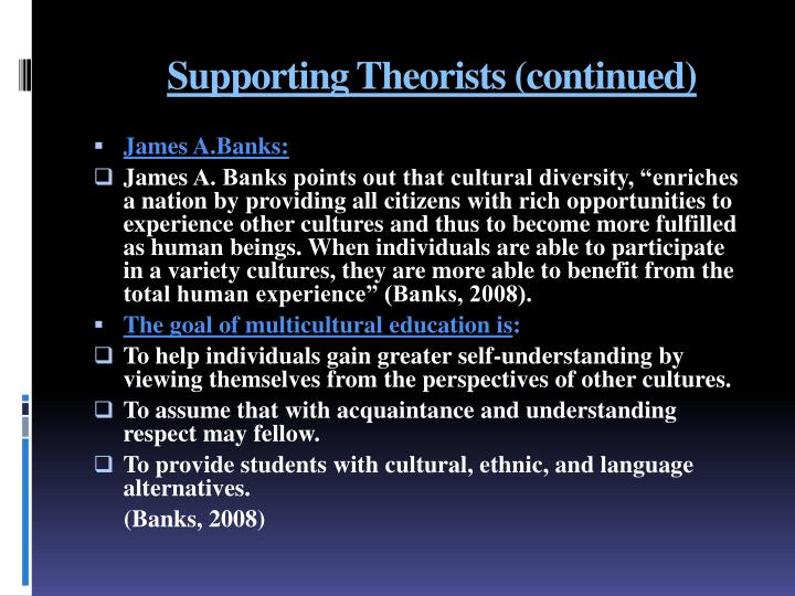 Supporting Theorists (continued)