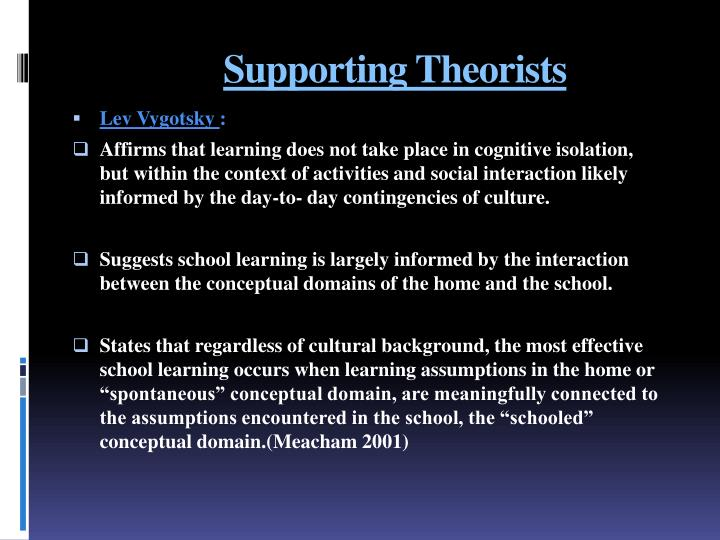 Supporting Theorists
