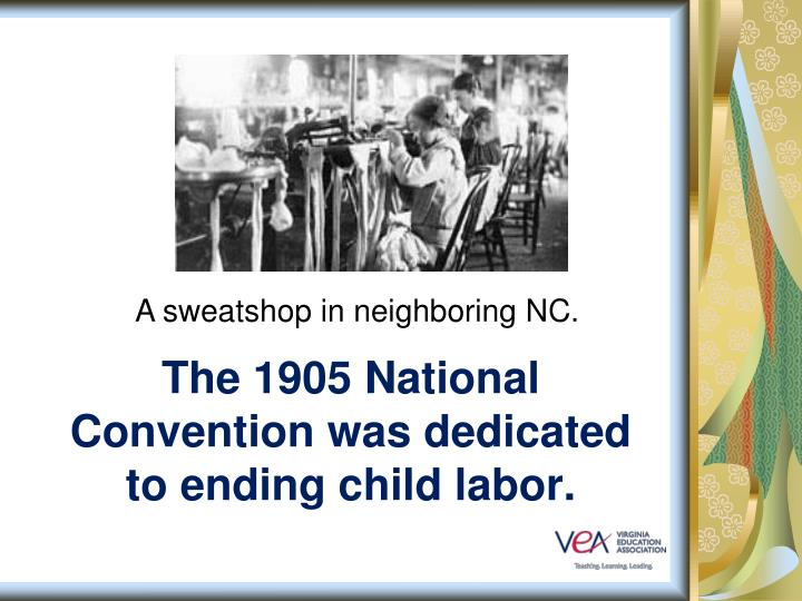 A sweatshop in neighboring NC.