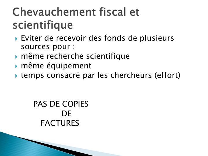Chevauchement fiscal et scientifique