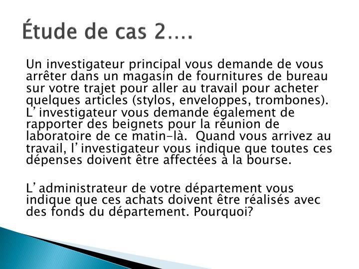 Étude de cas 2….