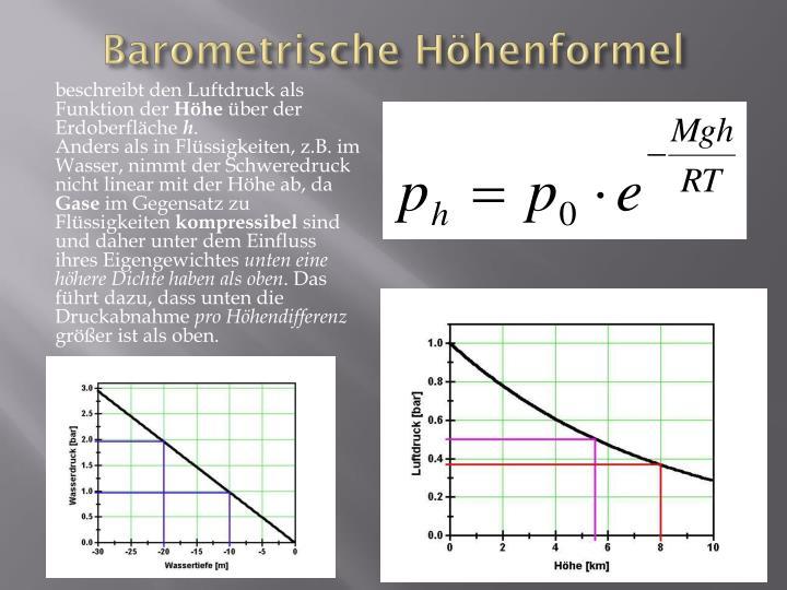 barometrische h henformel h he berechnen barometrische h. Black Bedroom Furniture Sets. Home Design Ideas