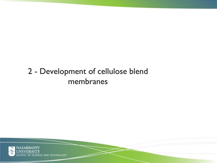 2 - Development of cellulose blend membranes