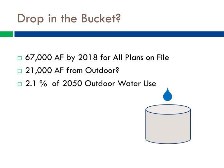 Drop in the Bucket?