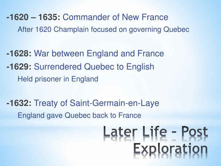 -1620 – 1635: