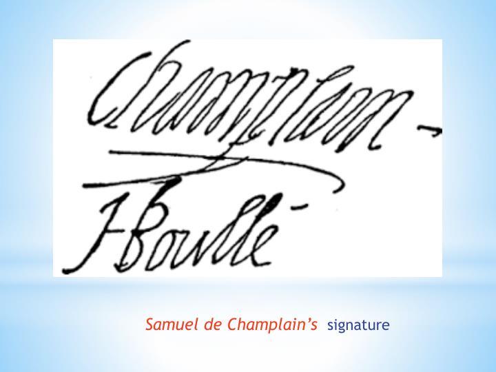 Samuel de Champlain's