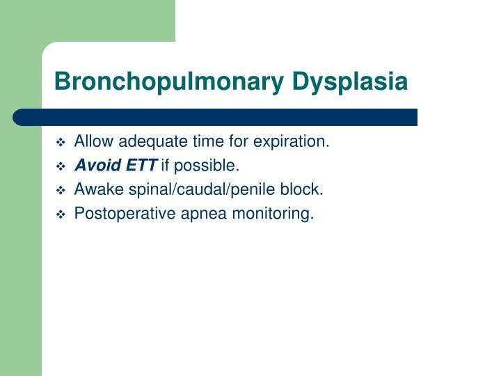 Bronchopulmonary