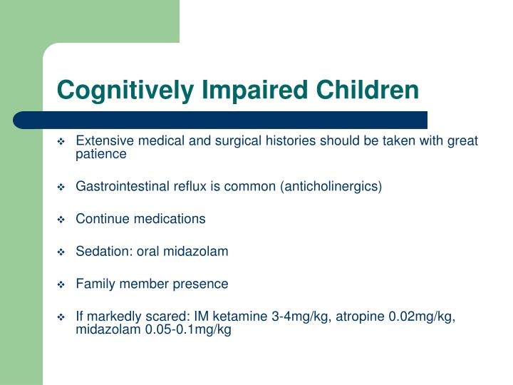 Cognitively Impaired Children