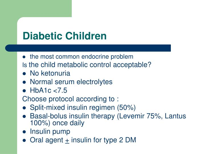 Diabetic Children