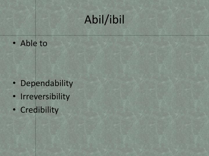 Abil/ibil