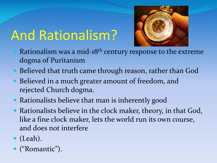 And rationalism