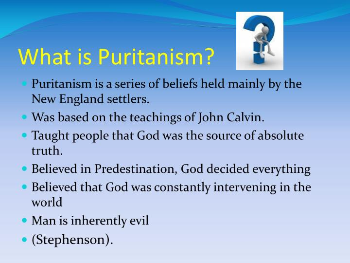 What is puritanism