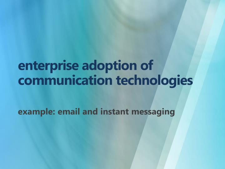 enterprise adoption of