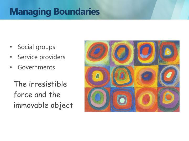 Managing Boundaries
