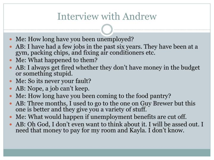 Interview with Andrew