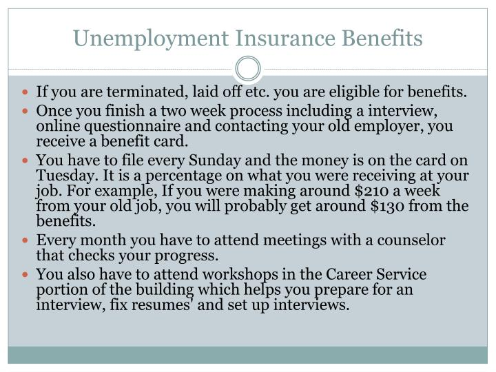 Unemployment insurance benefits