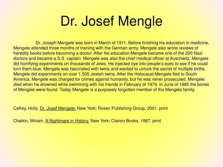 Dr. Josef Mengle