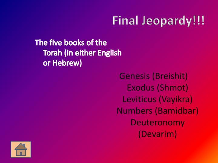 Final Jeopardy!!!