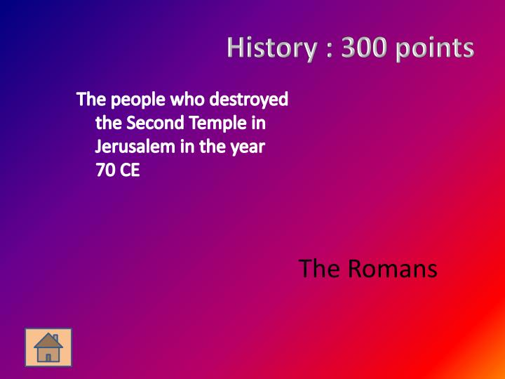 History :