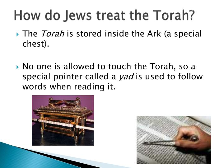 How do Jews treat the Torah?