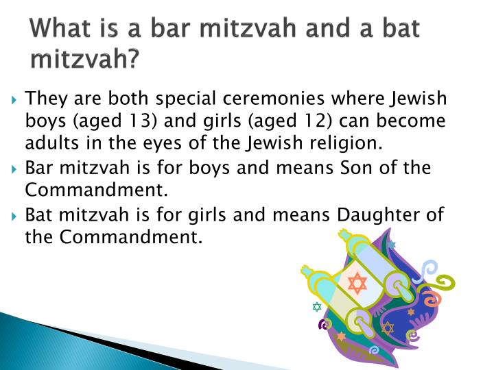 What is a bar mitzvah and a bat mitzvah?
