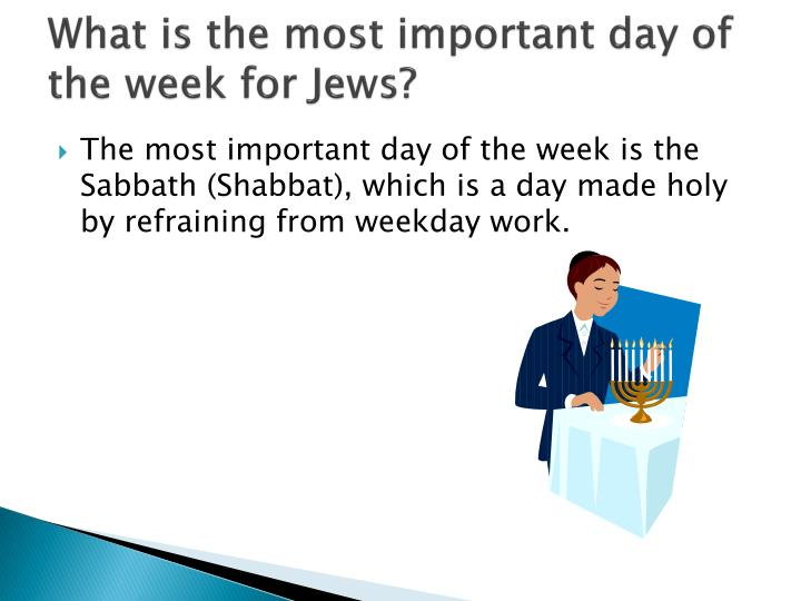 What is the most important day of the week for Jews?