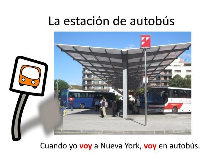 La estación de autobús