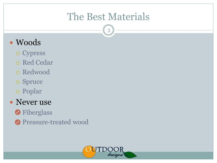 The best materials