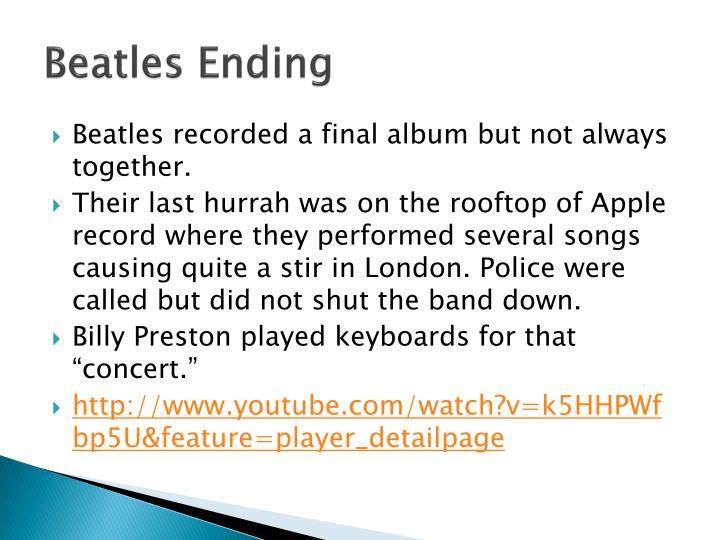 Beatles Ending