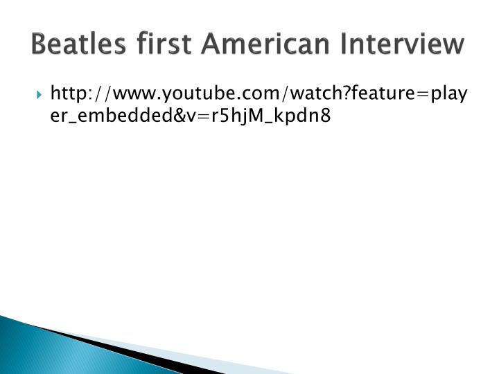 Beatles first American Interview