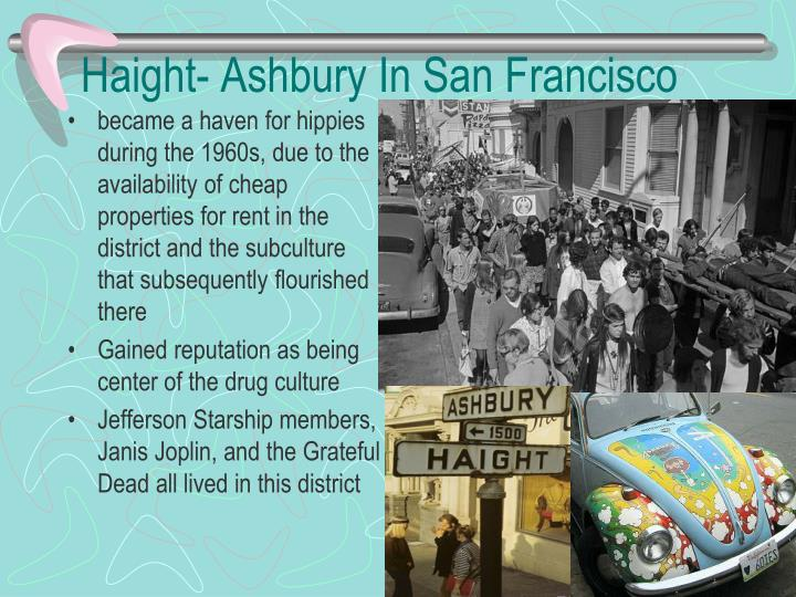 Haight- Ashbury In San Francisco