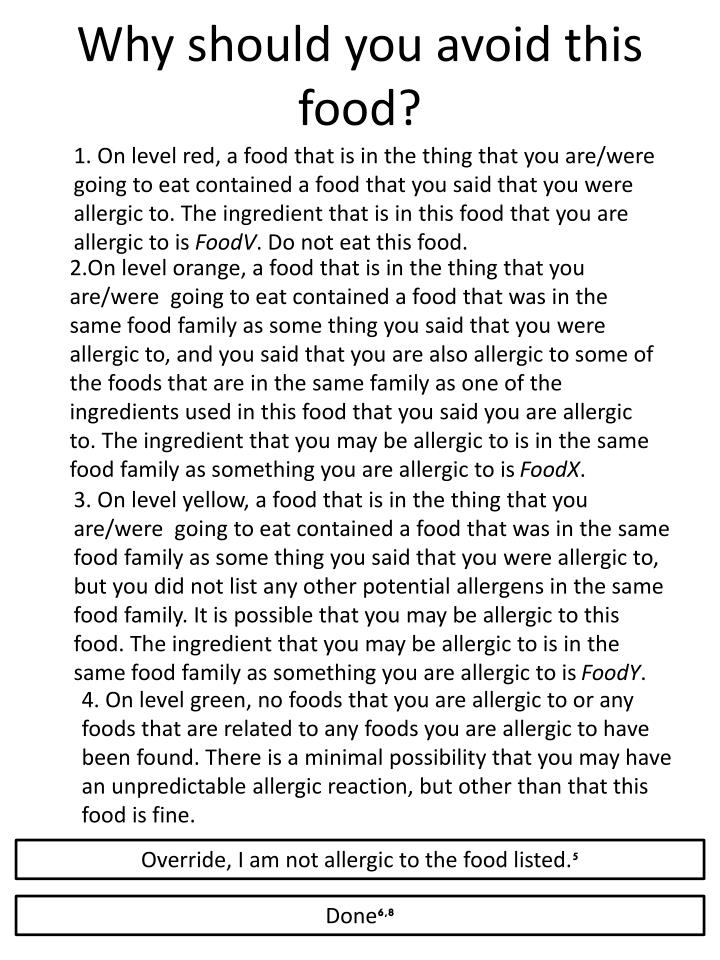 Why should you avoid this food?