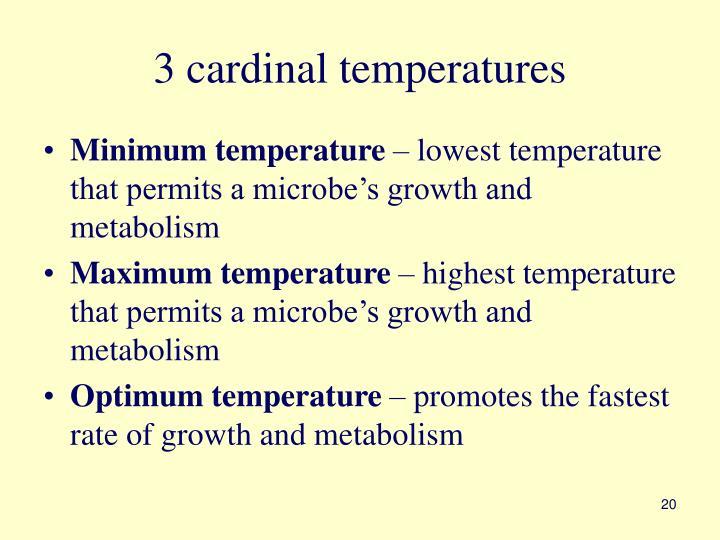 3 cardinal temperatures
