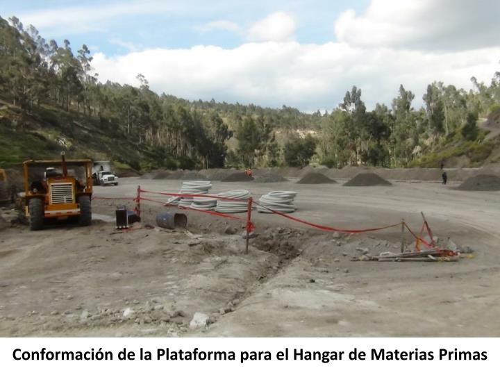 Conformación de la Plataforma para el Hangar de Materias