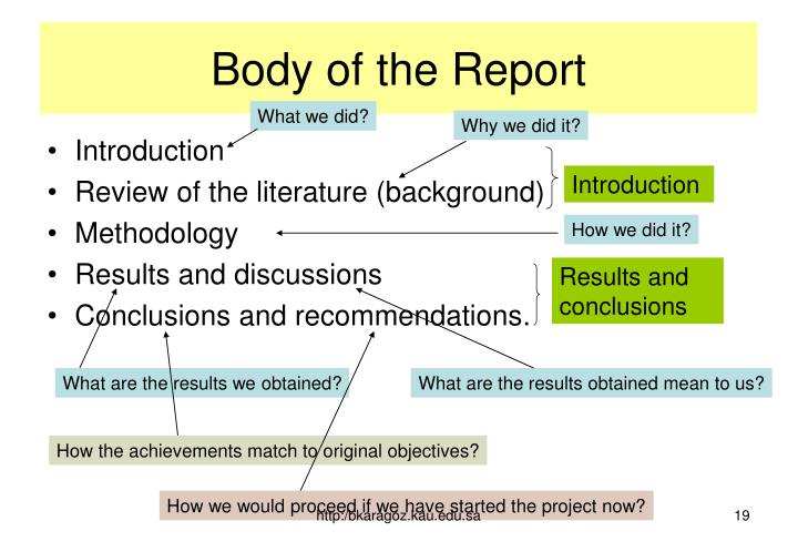 Body of the Report